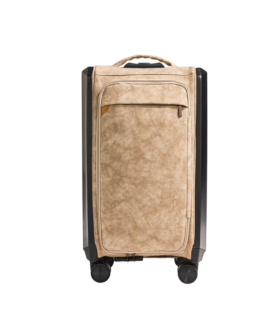 the olena paris beige folding suitcase for the front cabin